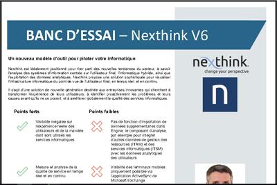 Banc d'essai Nexthink v6