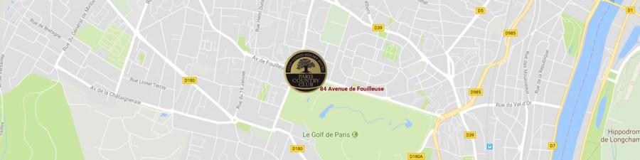 Maps Paris Country Club